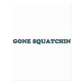 El mejor Squatchin ido divertido Tarjeta Postal