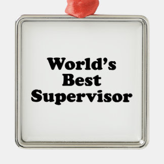 El mejor supervisor del mundo ornaments para arbol de navidad