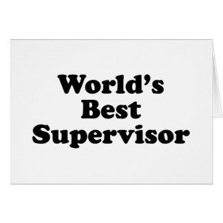 El mejor supervisor del mundo tarjeta de felicitación