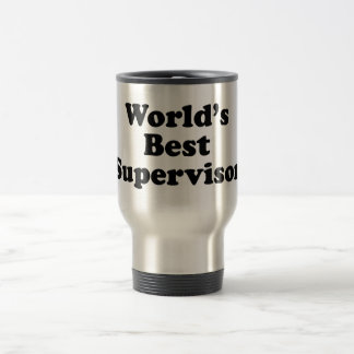 El mejor supervisor del mundo taza de café