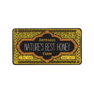 El mejor tarro de la miel de las naturalezas etiqueta de dirección