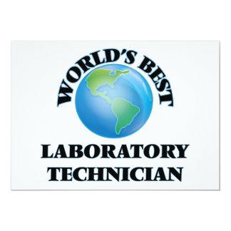 El mejor técnico del laboratorio del mundo invitación 12,7 x 17,8 cm