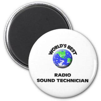 El mejor técnico sano de radio del mundo iman de frigorífico