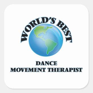 El mejor terapeuta del movimiento de la danza del calcomanías cuadradass
