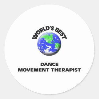 El mejor terapeuta del movimiento de la danza del pegatina redonda