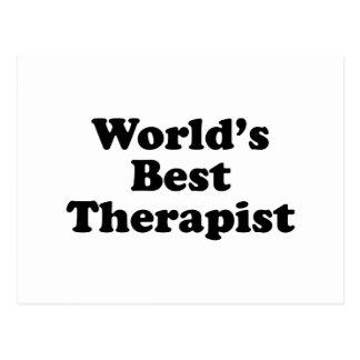 El mejor terapeuta del mundo tarjeta postal