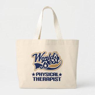 El mejor terapeuta físico de los mundos bolsa tela grande