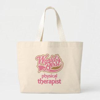 El mejor terapeuta físico de los mundos rosados bolsa tela grande
