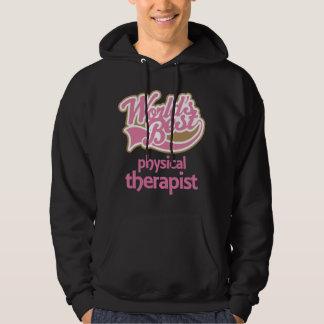 El mejor terapeuta físico de los mundos rosados pulóver con capucha