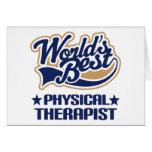 El mejor terapeuta físico de los mundos tarjetas