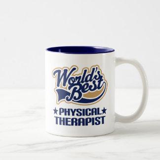 El mejor terapeuta físico de los mundos taza de dos tonos