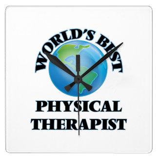 El mejor terapeuta físico del mundo reloj cuadrado