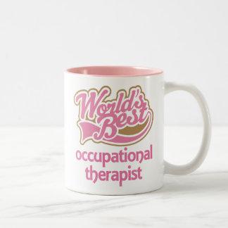 El mejor terapeuta profesional de los mundos rosad taza