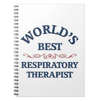 El mejor terapeuta respiratorio del mundo libreta