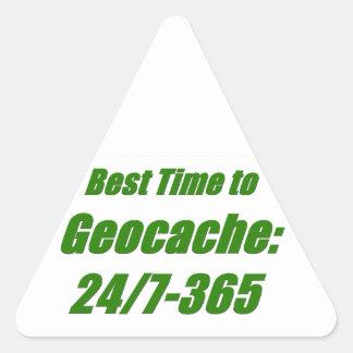 El mejor tiempo a Geocache Pegatina Triangular