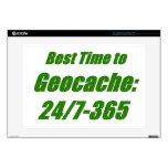 El mejor tiempo a Geocache Portátil Calcomanía