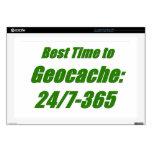 El mejor tiempo a Geocache 43,2cm Portátil Calcomanías