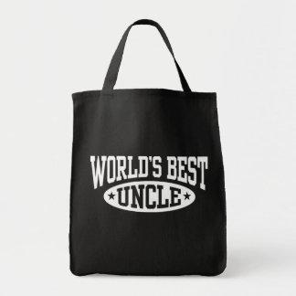 El mejor tío del mundo bolsa de mano