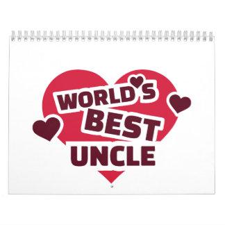 El mejor tío del mundo calendarios de pared
