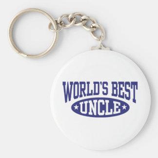 El mejor tío del mundo llavero personalizado
