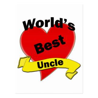 El mejor tío del mundo tarjetas postales