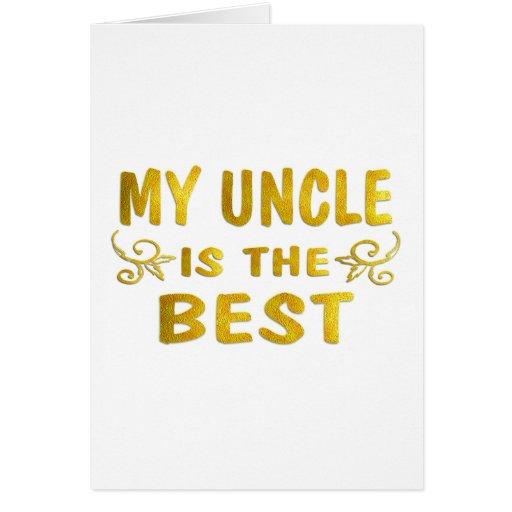 El mejor tío felicitación