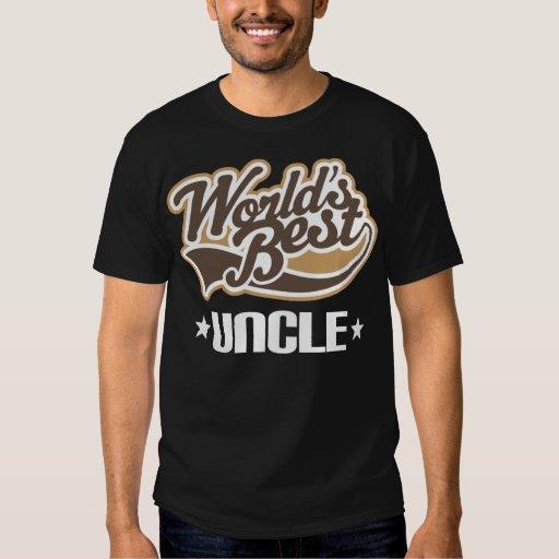 El mejor tío Gift Idea de los mundos Polera