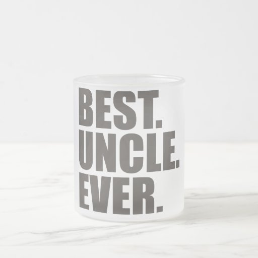 El mejor. Tío. Nunca Taza Cristal Mate
