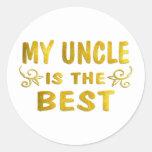 El mejor tío pegatina redonda