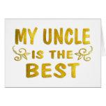 El mejor tío tarjetas