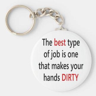 El mejor tipo de trabajo es uno que hace sus manos llavero redondo tipo pin