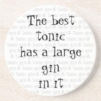 El mejor tónico tiene una ginebra grande en él posavasos manualidades