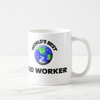 El mejor trabajador de la ayuda del mundo taza