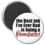 El mejor trabajo está siendo un abuelo imán de frigorífico