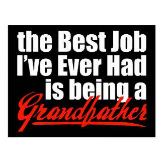 El mejor trabajo está siendo un abuelo tarjetas postales