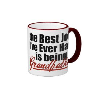 El mejor trabajo está siendo un abuelo tazas de café
