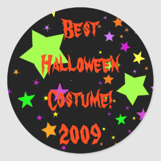 ¡El mejor traje de Halloween! 2009 Pegatina Redonda