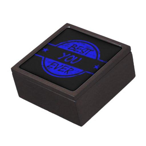 El mejor usted siempre azul caja de joyas de calidad