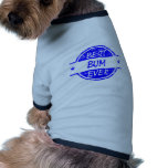 El mejor vago siempre azul camisas de mascota