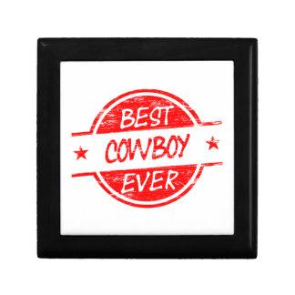 El mejor vaquero siempre rojo cajas de recuerdo