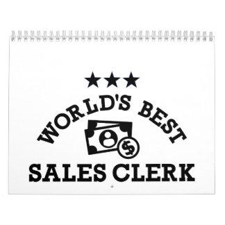 El mejor vendedor de las ventas del mundo calendario de pared