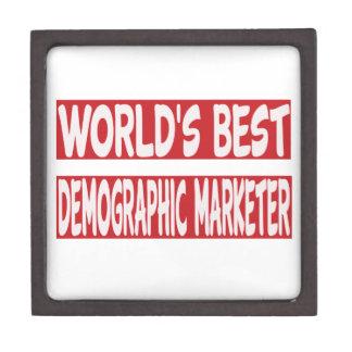 El mejor vendedor demográfico del mundo caja de recuerdo de calidad