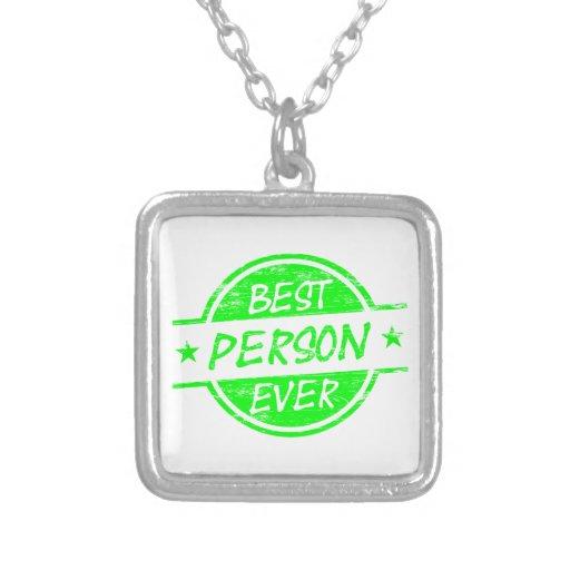 El mejor verde de la persona nunca collares