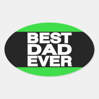 El mejor verde de LG del papá nunca Pegatina Ovalada
