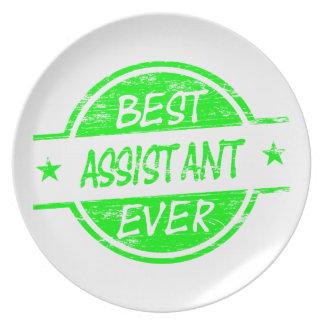 El mejor verde del ayudante nunca platos