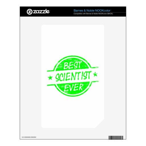 El mejor verde del científico nunca calcomanías para NOOK color