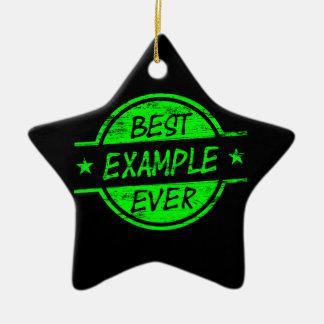 El mejor verde del ejemplo nunca adorno navideño de cerámica en forma de estrella