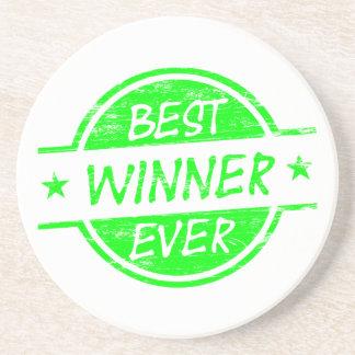 El mejor verde del ganador nunca posavasos diseño