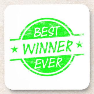 El mejor verde del ganador nunca posavasos de bebidas