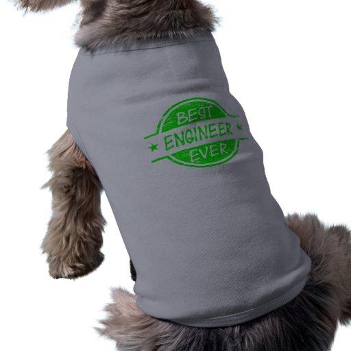 El mejor verde del ingeniero nunca camisas de mascota
